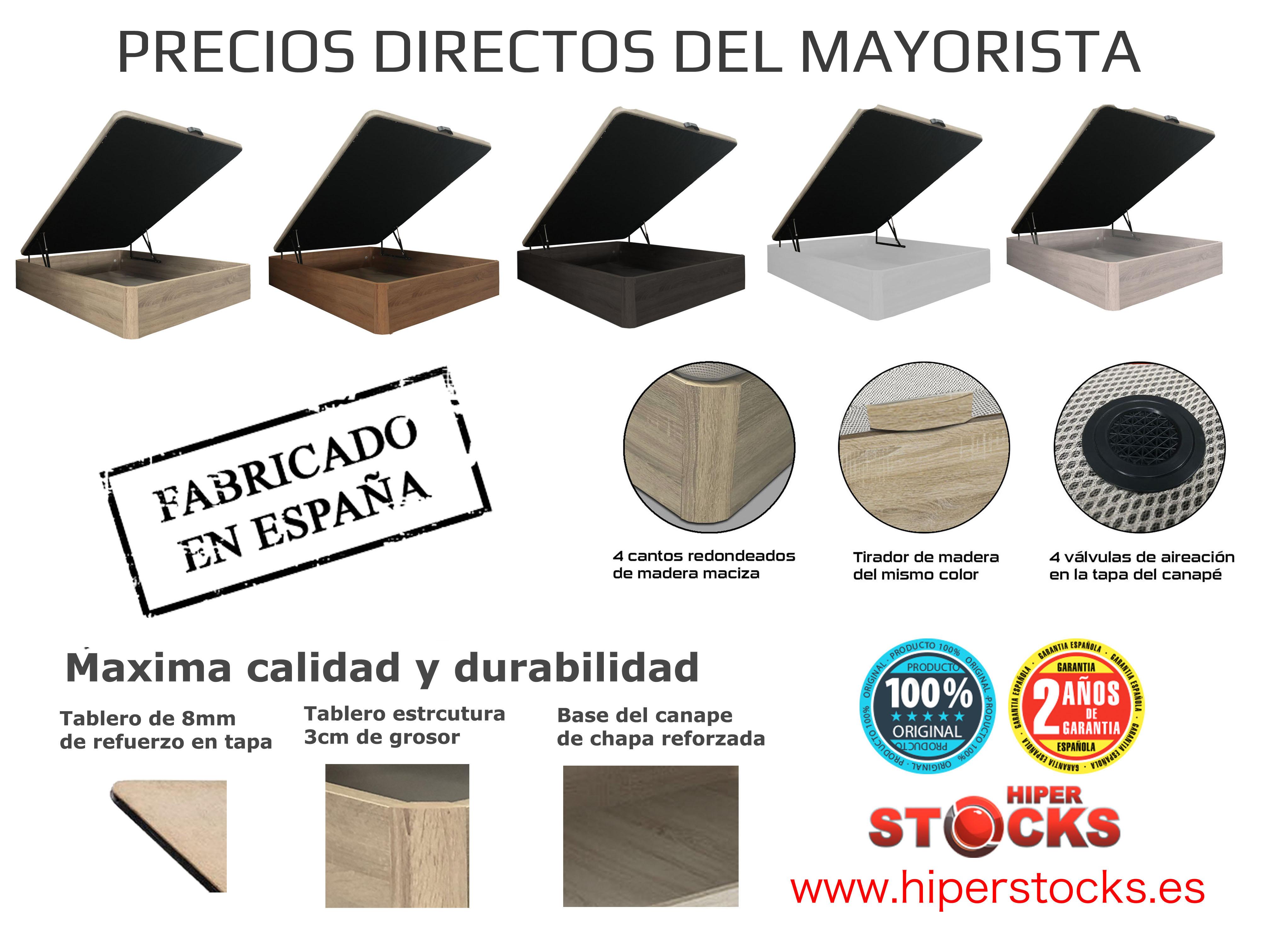 CANAPE PLUS 150X190 CEREZO/1TIR.MADERA/TAPA 3D+TST 2