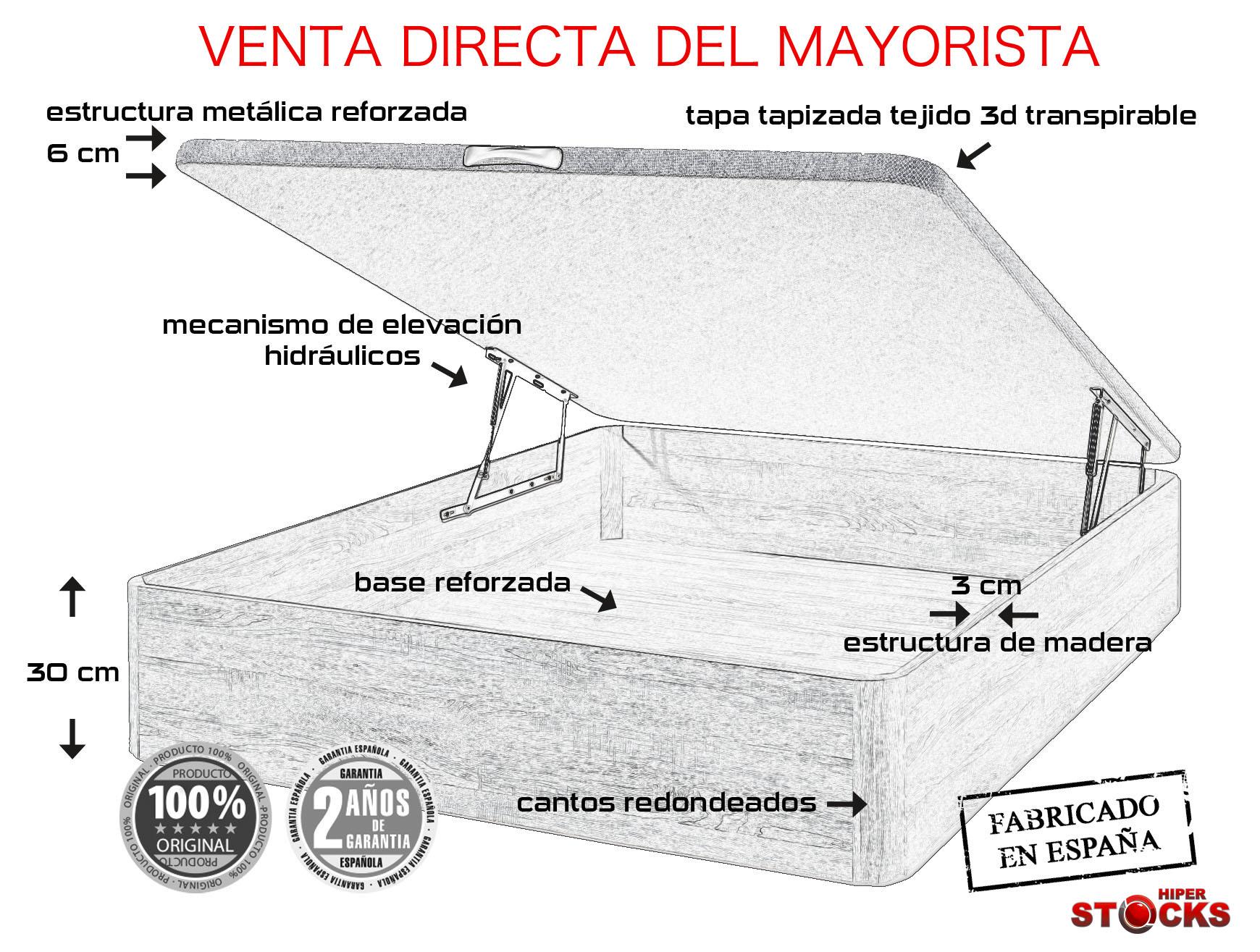 CANAPE PLUS 90X190 CEREZO/1TIR.MADERA/TAPA 3D+TST 2