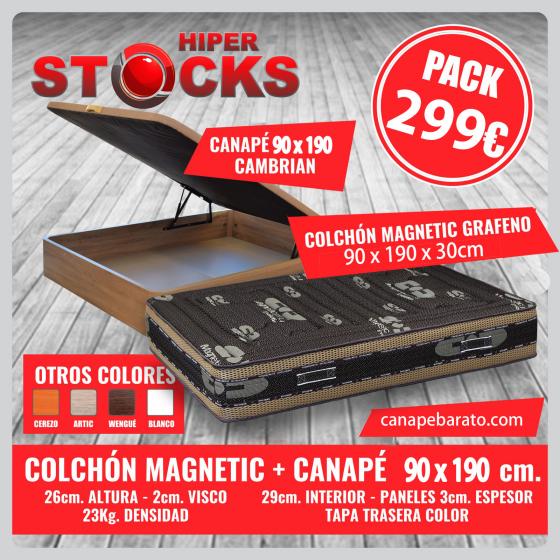 Pack canap� abatible Estrella + Colch�n  grafeno 90